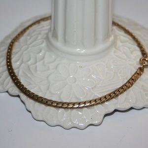 "Beautiful gold vintage men's bracelet 8.5"""